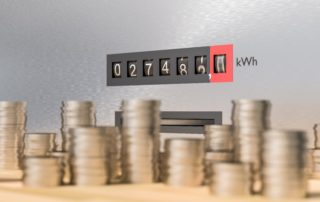 Electricity Meter With Many Coins