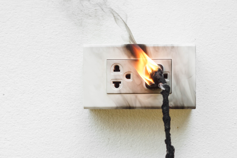 outlet-caught-on-fire