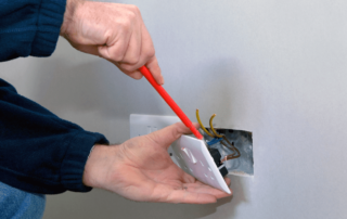 repairing electrical outlet