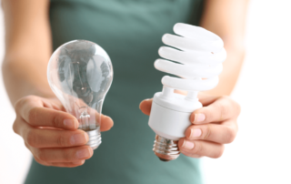 incandescent and led lightbulbs