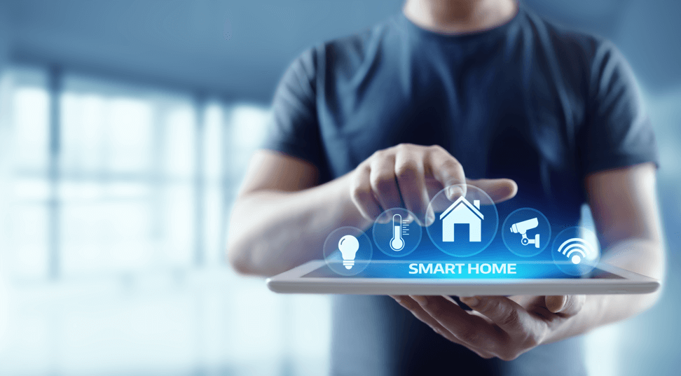 Smart-Home-guy-using-smart-device