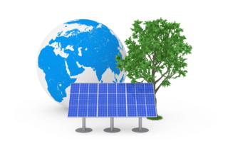 earth-solar-panel-green-tree-recycle-solar-panels