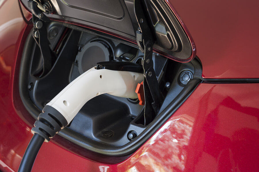 Electric-car-charging-with-level 2-charger