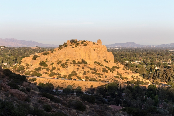 Afternoon view of Stoney Point Park and the San Fernando Valley